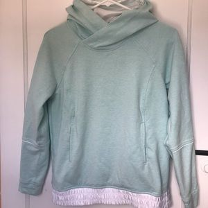 Lululemon All Good Pullover Tranquil Blue / White